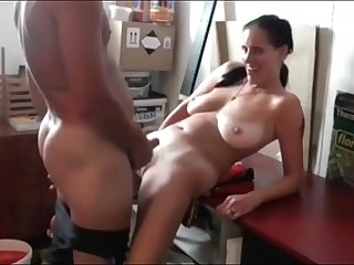 Fucking Slutty Mom with Saggy Tits